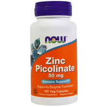 Load image into Gallery viewer, Now Foods, Zinc Picolinate, 50 mg, 120 Veggie Capsules