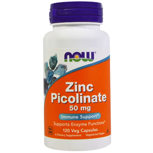 Now Foods, Zinc Picolinate, 50 mg, 120 Veggie Capsules
