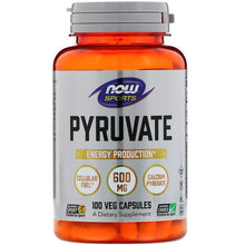 Load image into Gallery viewer, Now Foods, Pyruvate, 600 mg, 100 Veg Capsules