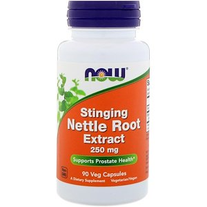 Now Foods, Stinging Nettle Root Extract, 250 mg, 90 Veg Capsules