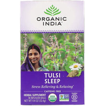 Load image into Gallery viewer, Organic India, Tulsi Sleep, Caffeine Free, 18 Infusion Bags, 1.14 oz (32.4 g)
