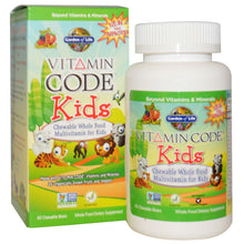 Load image into Gallery viewer, Garden of Life, Vitamin Code, Kids, Chewable Whole Food Multivitamin for Kids, Cherry Berry, 60 Chewable Bears