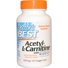 Load image into Gallery viewer, Doctor's Best, Acetyl-L-Carnitine, 500 mg, 120 Veggie Caps
