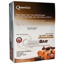 Load image into Gallery viewer, Quest Nutrition, QuestBar, Protein Bar, Chocolate Chip Cookie Dough, 12 Bars, 2.1 oz (60 g) Each