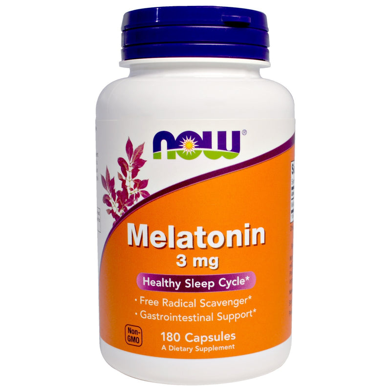 Now Foods, Melatonin, 3 mg, 180 Capsules
