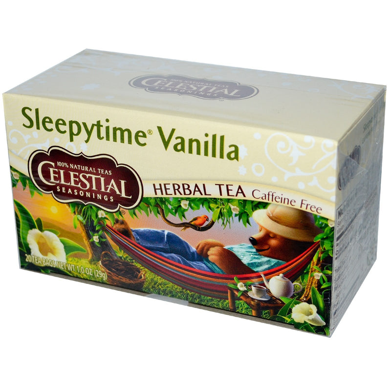 Celestial Seasonings, Herbal Tea, Sleepytime Vanilla, Caffeine Free, 20 Tea Bags, 1.0 oz (29 g)