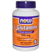 Load image into Gallery viewer, Now Foods, L-Glutamine, 500 mg, 120 Capsules