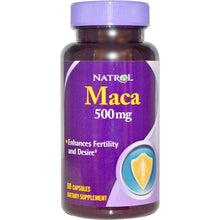 Load image into Gallery viewer, Natrol, Maca, 500 mg, 60 Capsules