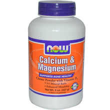 Load image into Gallery viewer, Now Foods, Calcium & Magnesium, High Absorption, 8 oz (227 g)
