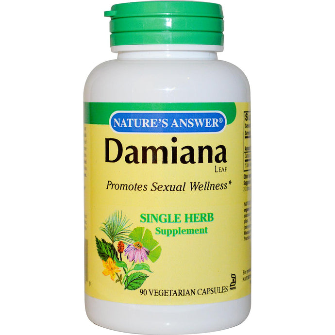 Nature's Answer, Damiana Leaf, 90 Veggie Caps
