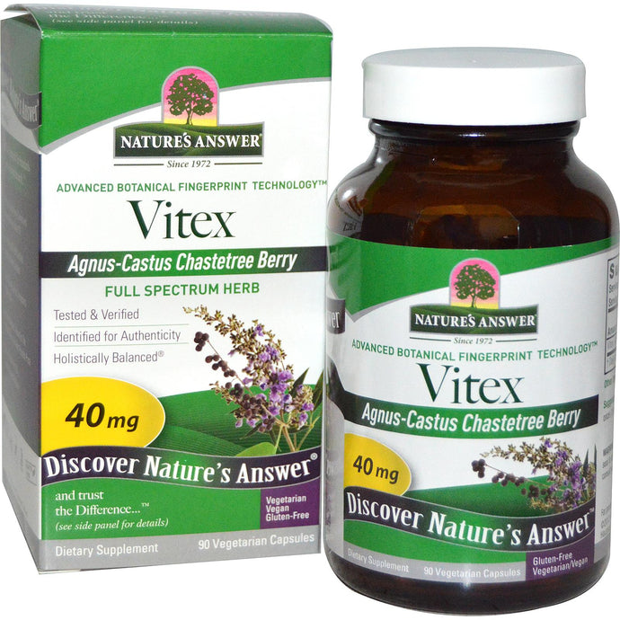 Nature's Answer, Vitex, Agnus-Castus, Chastetree Berry, 90 Veggie Caps