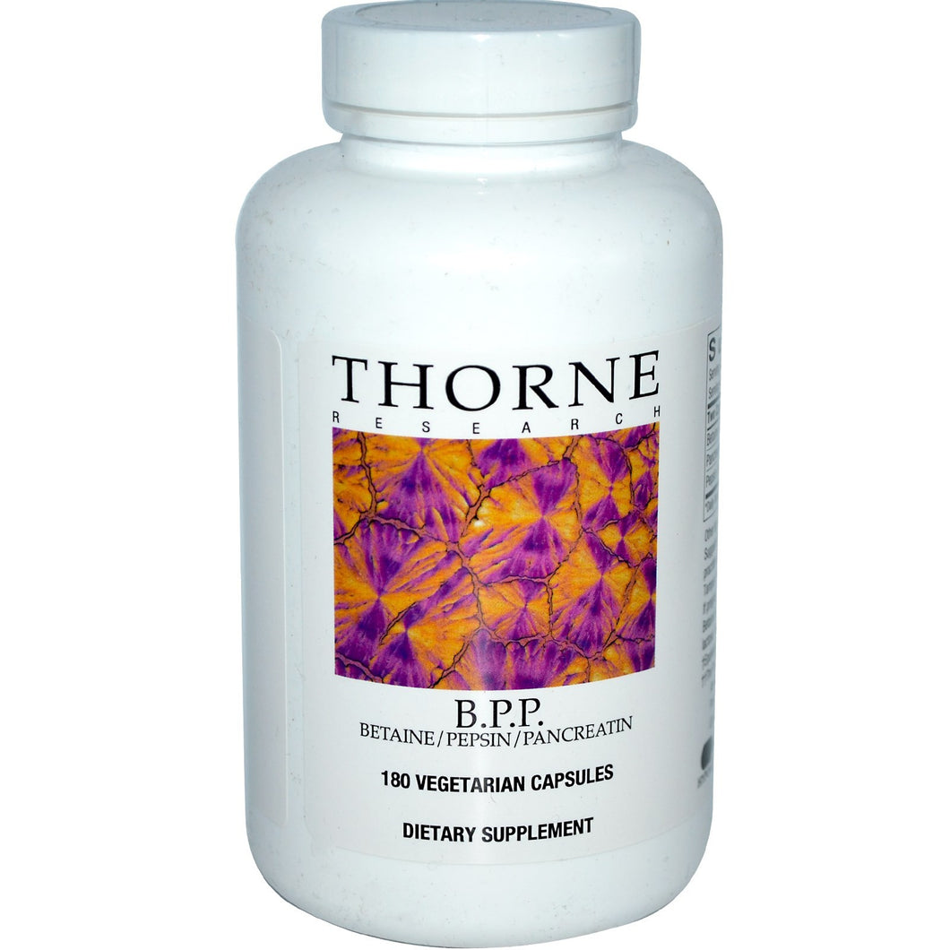 Thorne Research, B.P.P., Betaine / Pepsin / Pancreatin, 180 Veggie Caps BPP