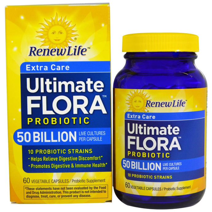 Renew Life, Ultimate Flora, Extra Care, 50 Billion, 60 Veggie Caps