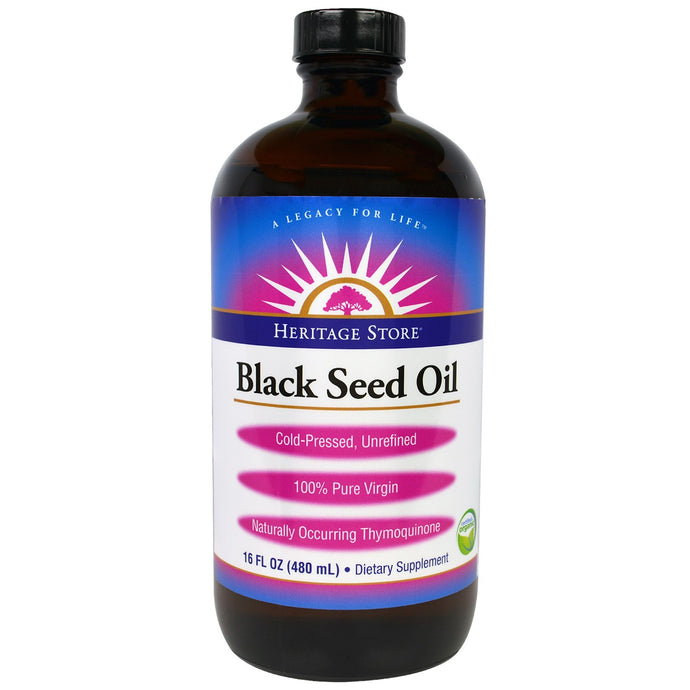 Heritage Products, Heritage Store, Black Seed Oil, 16 fl oz (480 ml)