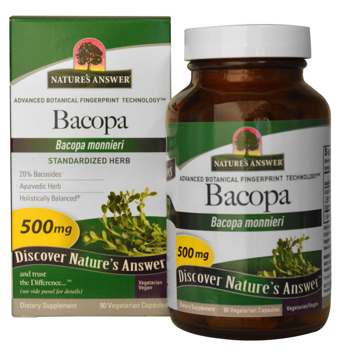 Nature's Answer, Bacopa, 500mg, 90 Veggie Caps - Supplement