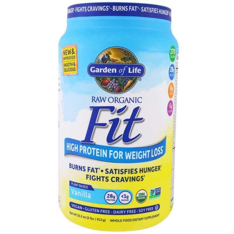 Garden of Life, Raw Organic Fit, High Protein For Weight Loss, Vanilla, 32.2 oz (913 g)