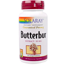 Load image into Gallery viewer, Solaray, Butterbur, Extract, 50 mg, 60 Veggie Caps