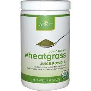 Activz, Organic Wheatgrass Juice Powder, 4 oz (114 g)