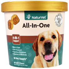 Load image into Gallery viewer, NaturVet, All-In-One, 4-In-1 Support, 60 Soft Chews, 8.4 oz. (240 g)