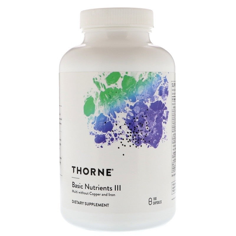 Thorne Research, Basic Nutrients III, Multi without Copper and Iron, 180 Capsules
