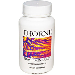 Thorne Research, Trace Minerals, 90 Veggie Caps