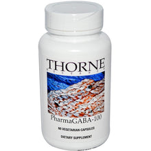 Load image into Gallery viewer, Thorne Research, PharmaGABA-100, 60 Vegetarian Capsules