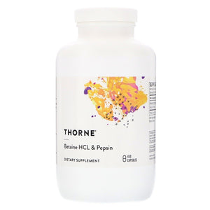 Thorne Research, Betaine HCL & Pepsin, 450 Capsules