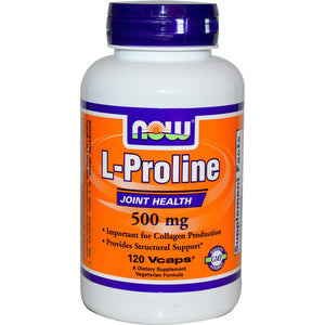 Now Foods L-Proline 500mg 120 VCaps - Dietary Supplement