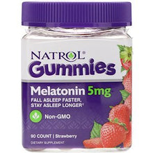 Load image into Gallery viewer, Natrol, Gummies, Melatonin, Strawberry, 5 mg, 90 Count