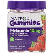 Load image into Gallery viewer, Natrol, Gummies, Melatonin, Strawberry, 10 mg, 90 Count