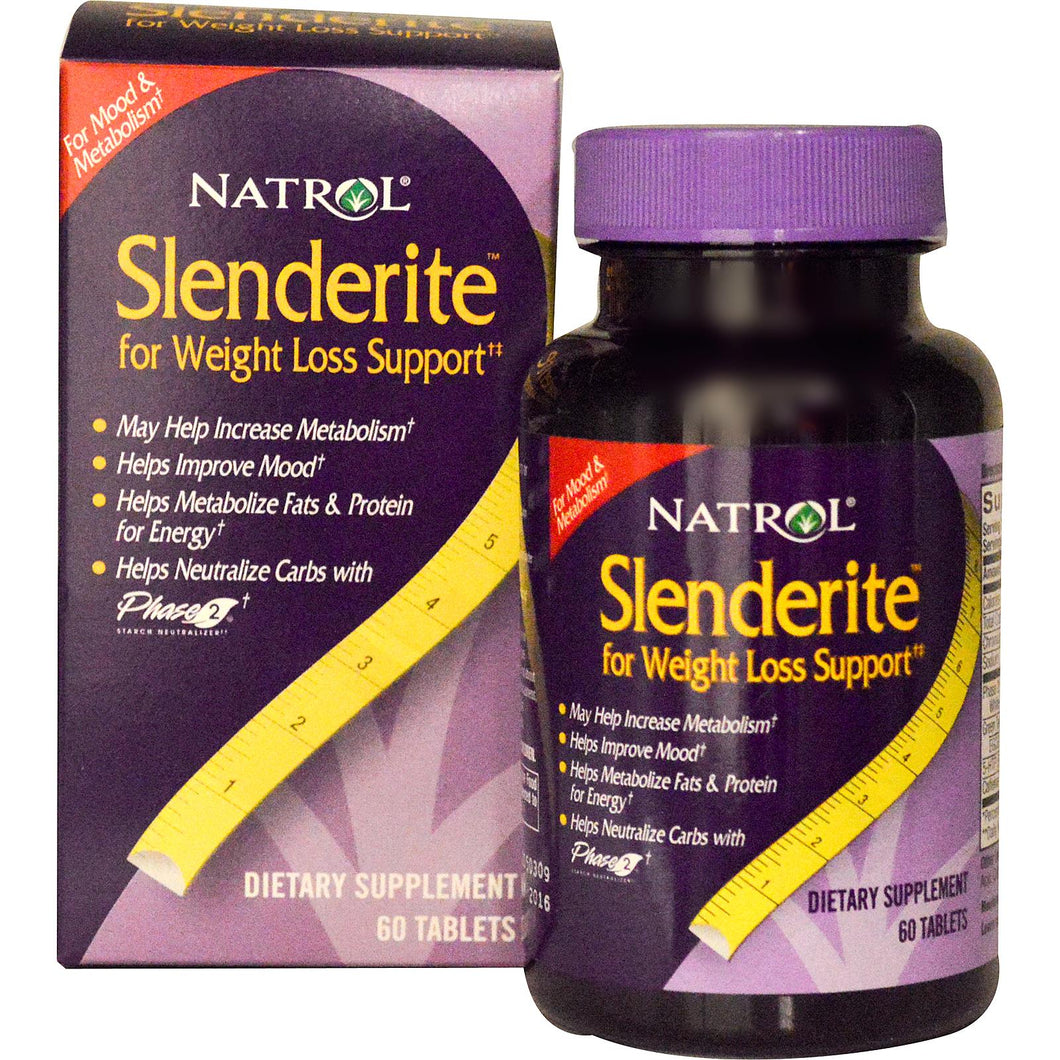 Natrol Slenderite, For Weight Loss Support, 60 Capsules