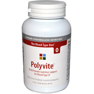 D'Adamo, Polyvite, Multivitamin for Blood Type O, 120 Veggie Caps