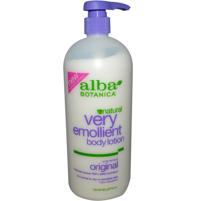 Alba Botanica, Very Emollient Body Lotion, Unscented Original (907gm)