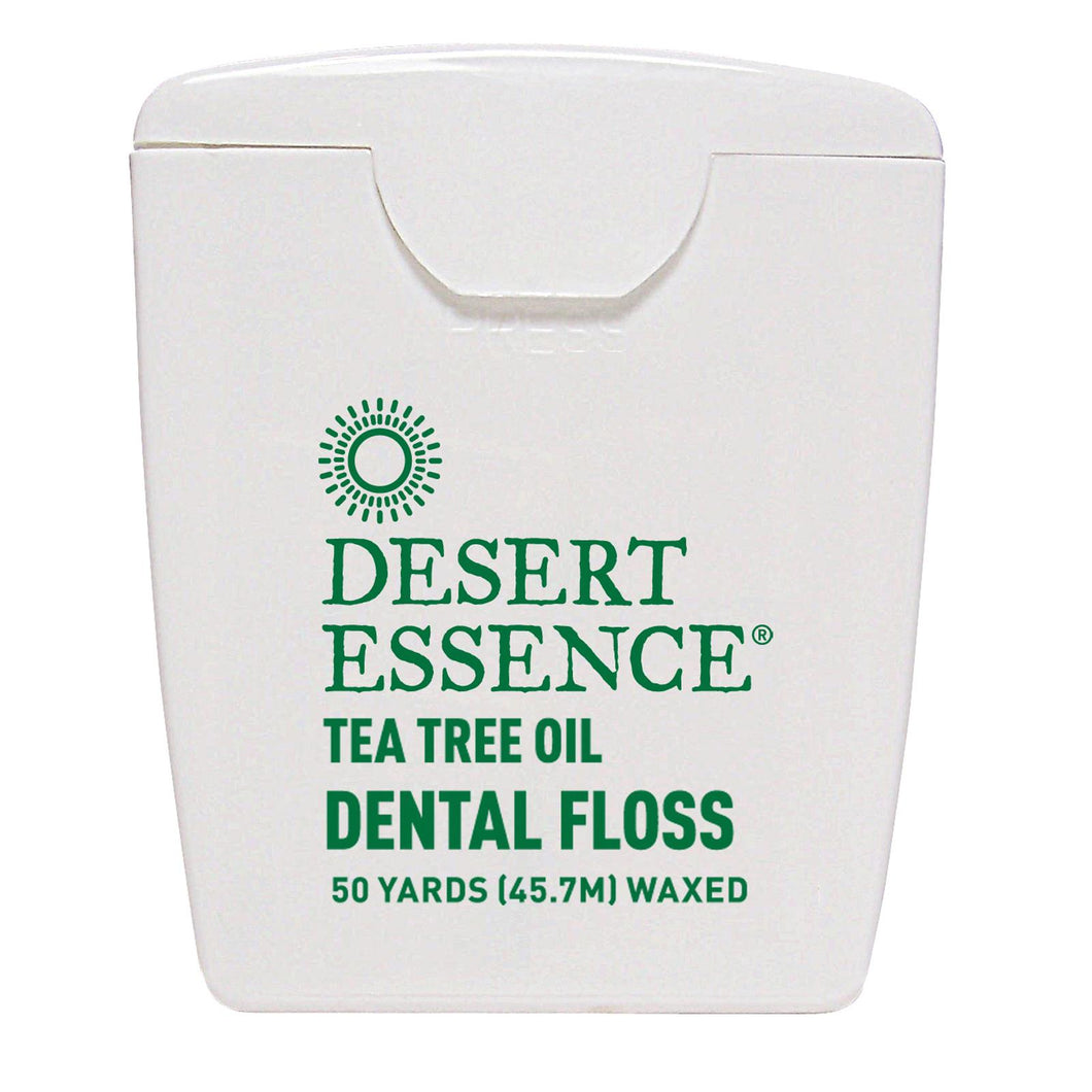 Desert Essence, Tea Tree Oil, Dental Floss, Waxed (45.7m)