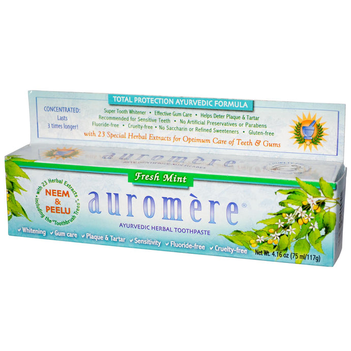 Auromere Herbal Toothpaste Fresh Mint (75ml)