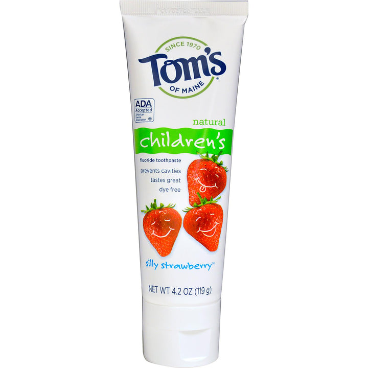 Toms of Maine Natural Childrens Fluoride Toothpaste (119g) Silly Strawberry