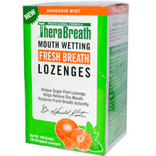 Load image into Gallery viewer, Therabreath, Mouthwatering Fresh Breath Lozenges, Mandarin Mint, 100 Wrapped Lozenges (165g)