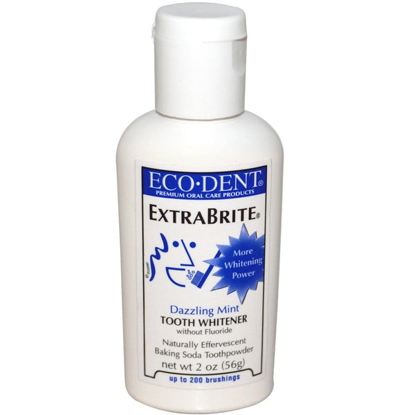 Eco-Dent Extrabrite tooth whitener without fluoride - Dazzling Mint (56g)