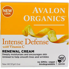 Load image into Gallery viewer, Avalon Organics, Intense Defense, With Vitamin C, Renewal Cream, 2 oz (57 g)