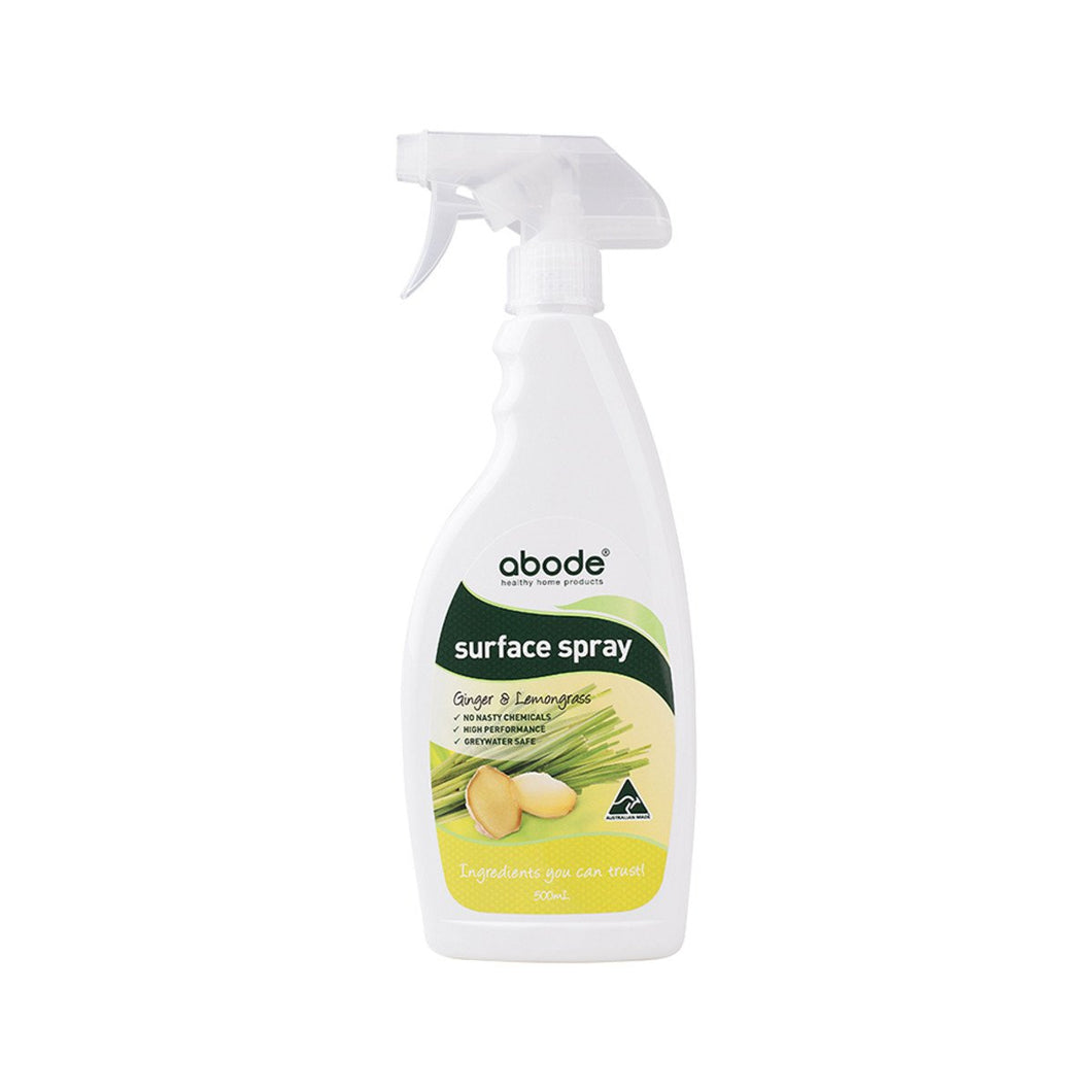 Abode, Surface Spray Ginger & Lemongrass, 500ml Spray