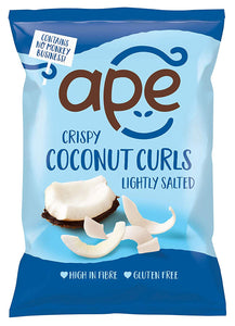 Ape Snacks, Coconut Curls Lightly Salted, 20g