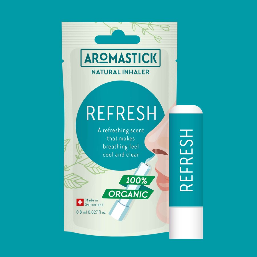 AromaStick, Refresh Nasal Inhaler Single, 0.8ml