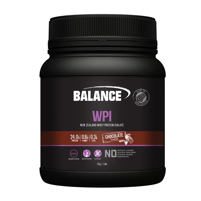 Balance, Wpi (New Zealand Whey Protein Isolate) Chocolate, 750g