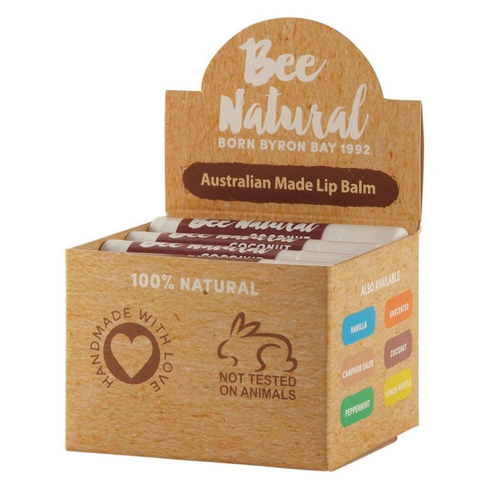Bee Natural, Lip Balm Stick Coconut, 4.5ml X 12 Display