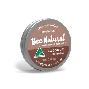 Bee Natural, Lip Balm Tin Coconut, 18ml