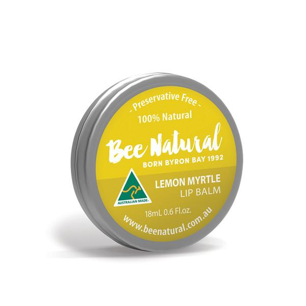 Bee Natural, Lip Balm Tin Lemon Myrtle, 18ml