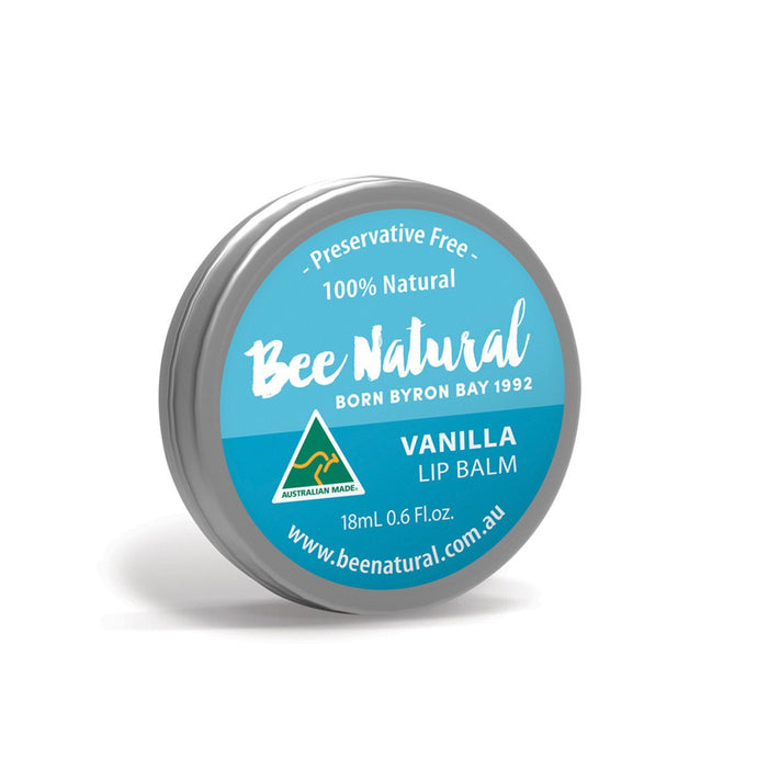 Bee Natural, Lip Balm Tin Vanilla, 18ml