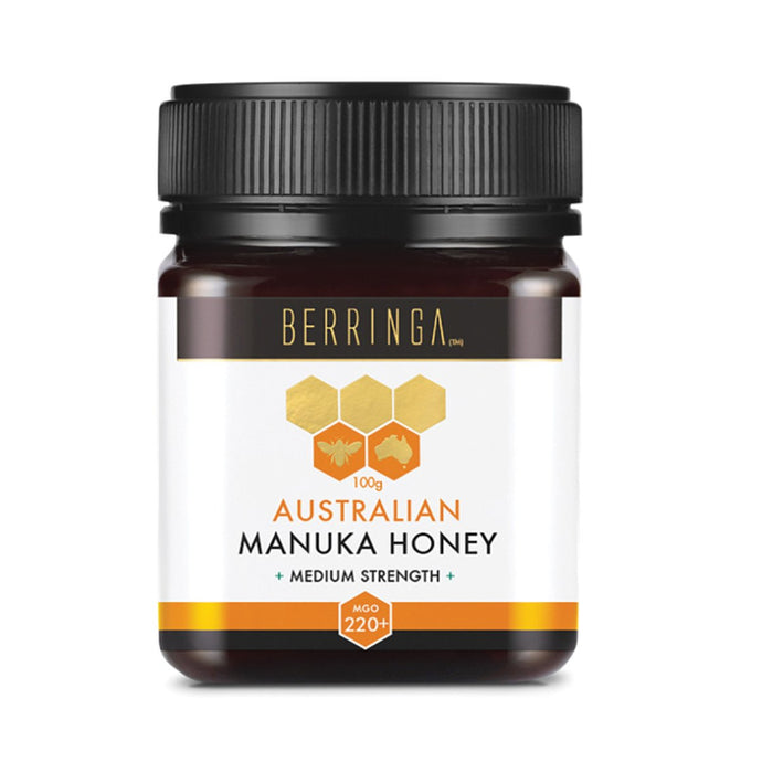 Berringa, Australian Manuka Honey Medium Strength (Mgo, 220+), 100g