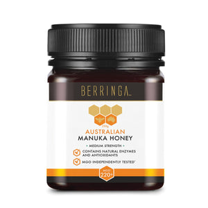 Berringa, Australian Manuka Honey Medium Strength (Mgo, 220+), 250g