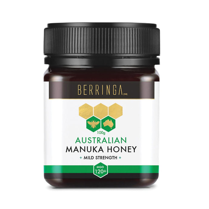 Berringa, Australian Manuka Honey Mild Strength (Mgo, 120+), 100g